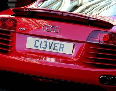 What is the law on number plates?