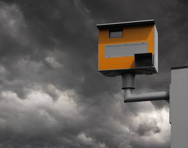 Speed camera on road in UK