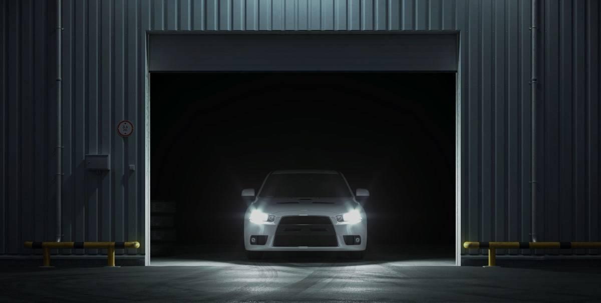 A SORN my car in a garage
