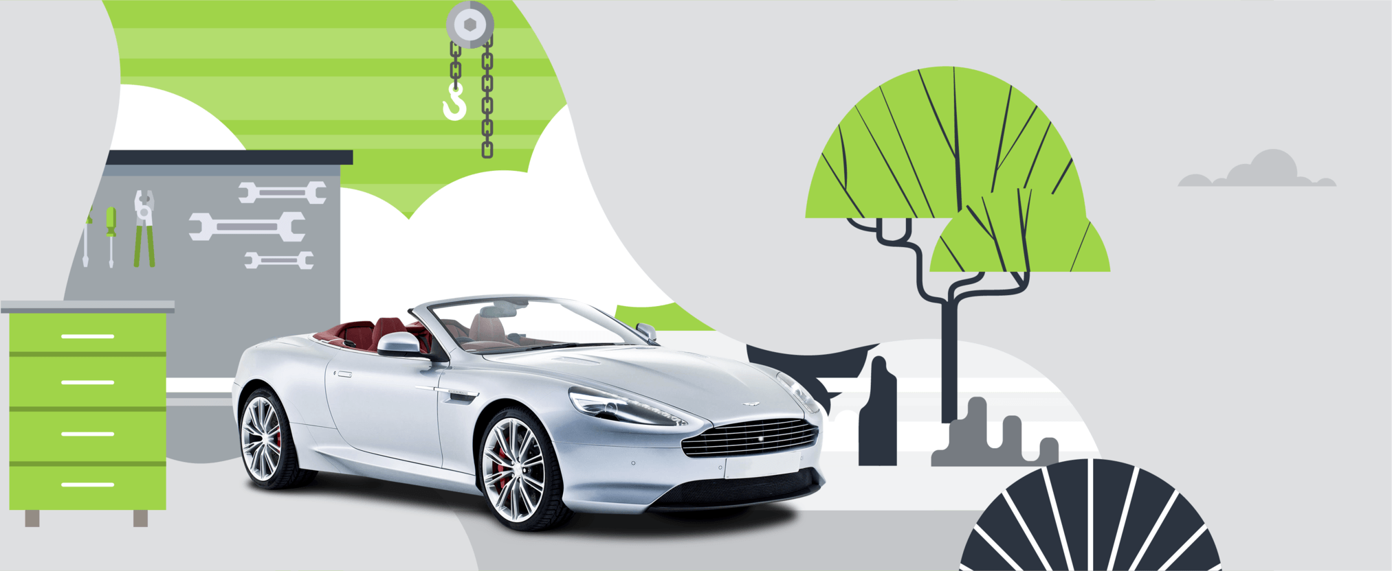 Aston Martin with an extended cary warranty