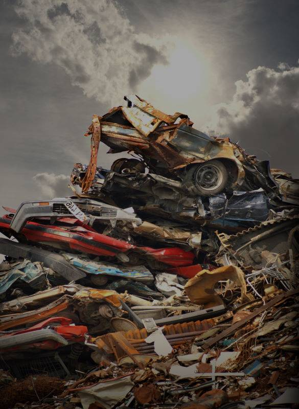 Collection of scrap cars