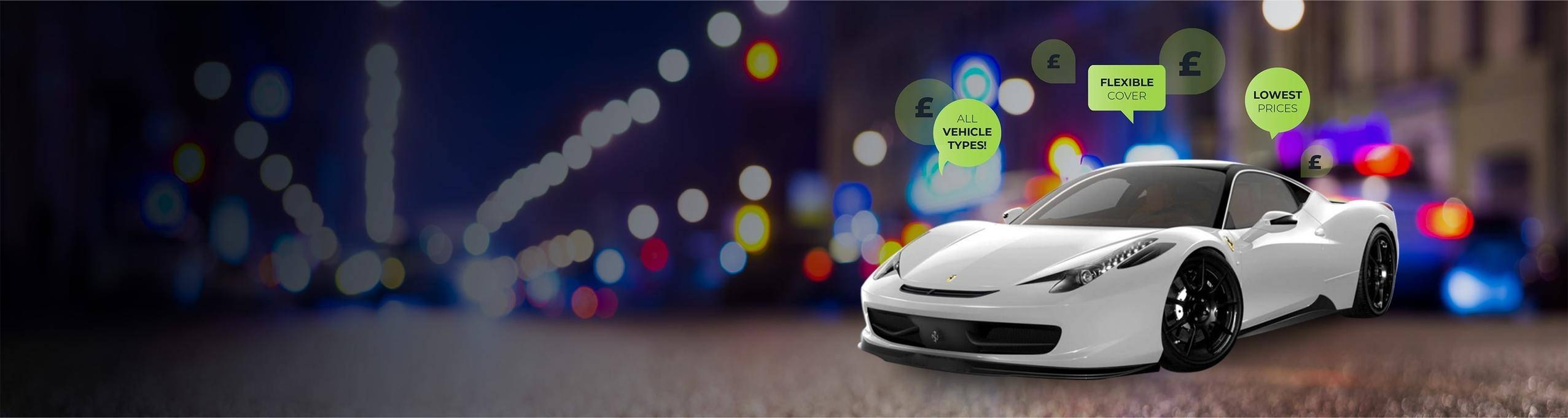 Sports Car with comprehensive car insurance policy