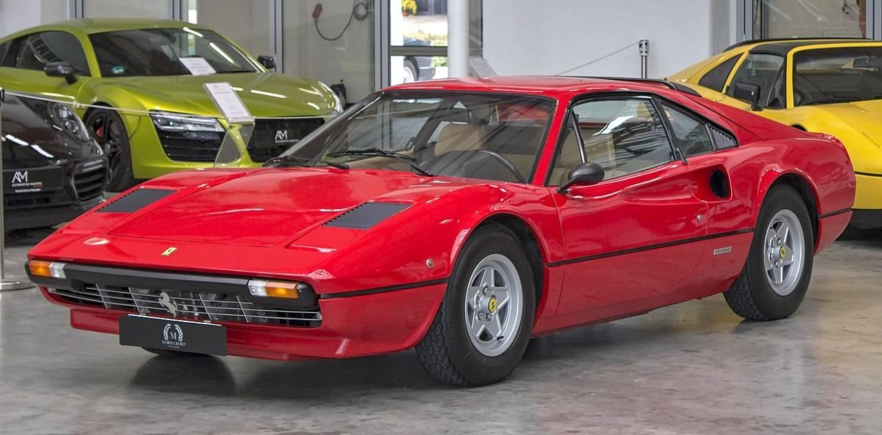 Ferrari Auction salvage cat n vehicle on display