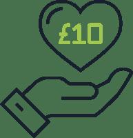 £10 Pink Ribbon donation